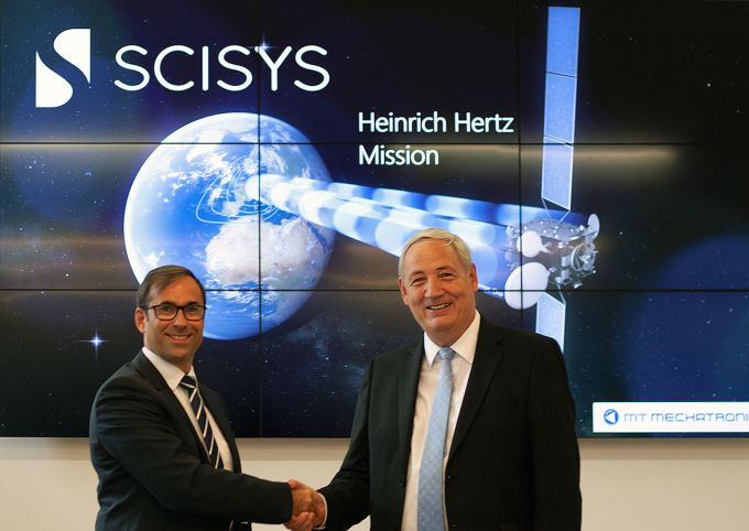 SCISYS Director Ulli Leibnitz with Thomas Zimmerer, Senior Vice President Business Development Sales & Marketing at MT Mechatronics